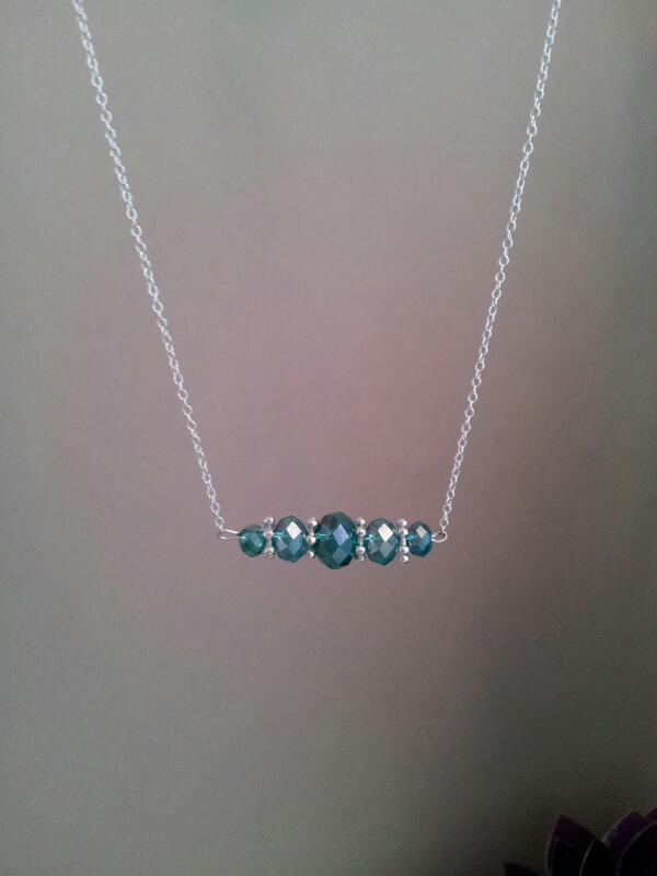sterling Silver 925 crystal necklace