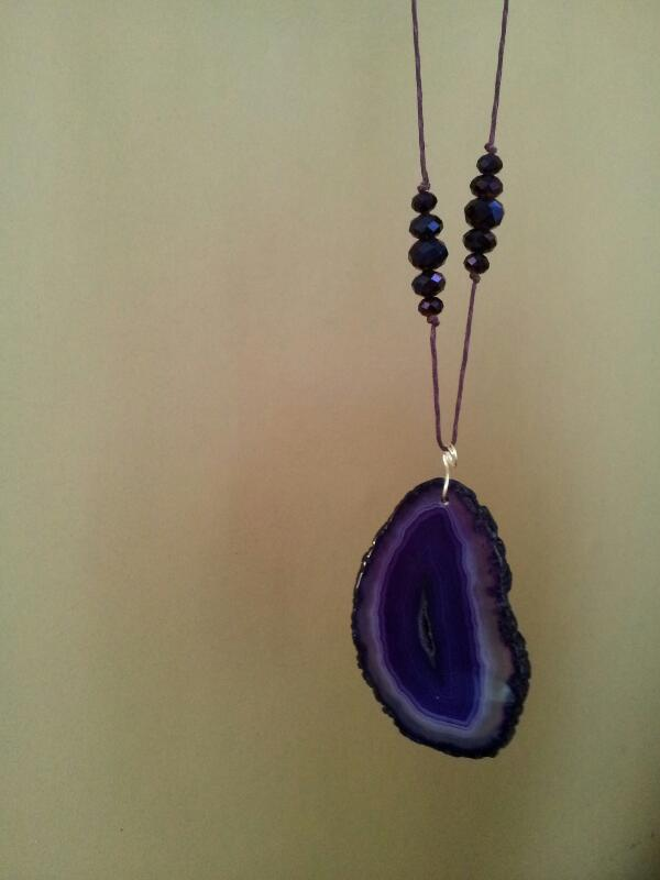 Bracilian agate pendant necklace
