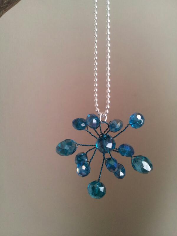 Blue silver flower