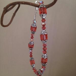 padparadscha cube bracelet