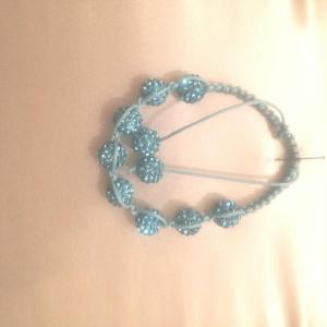 Aqua shamballa bracelet