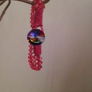 Padparadscha swarovski bracelet