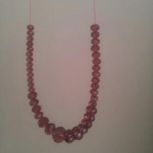 Purple crystal beads necklace 2
