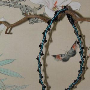 svart turkos tennhalsband
